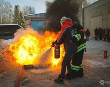 В пятницу, 13-го в Облбиблиотеке планово случился учебный пожар