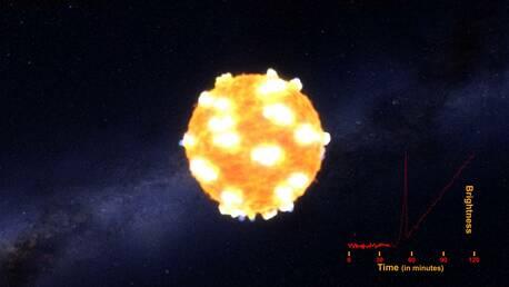 NASA показало видео взрыва сверхновой звезды