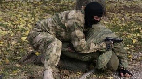 ФСБ показала видео задержания одного из«крымских диверсантов»
