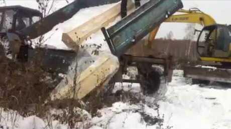 Новый метод захоронения: вРФ массово скидывают гробы втраншею