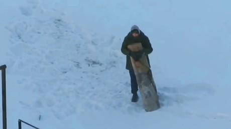 Гражданин Минска по-мужски разобрался созлейшим противником - ковром