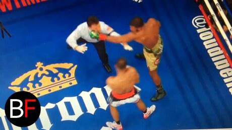 Боксёр изШвеции отправил внокдаун судью впроцессе титульного боя