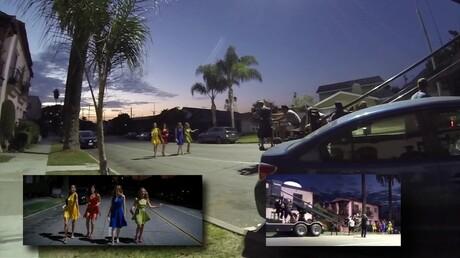 Размещено видео сосъемочной площадки фильма «Ла-Ла Ленд»