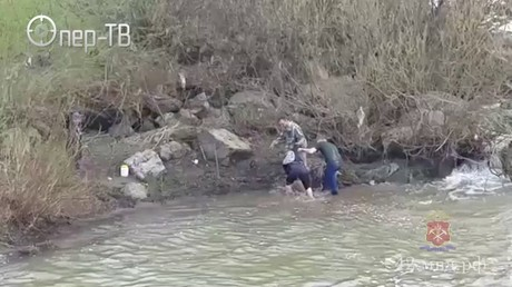 Спасение тонущего 10-летнего ребенка вКузбассе попало навидео