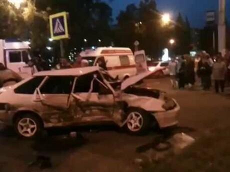 ВКузбассе вДТП сВАЗом ииномаркой пострадали люди