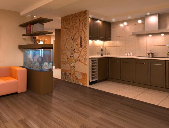 кухня с гостиной дизайн фото
