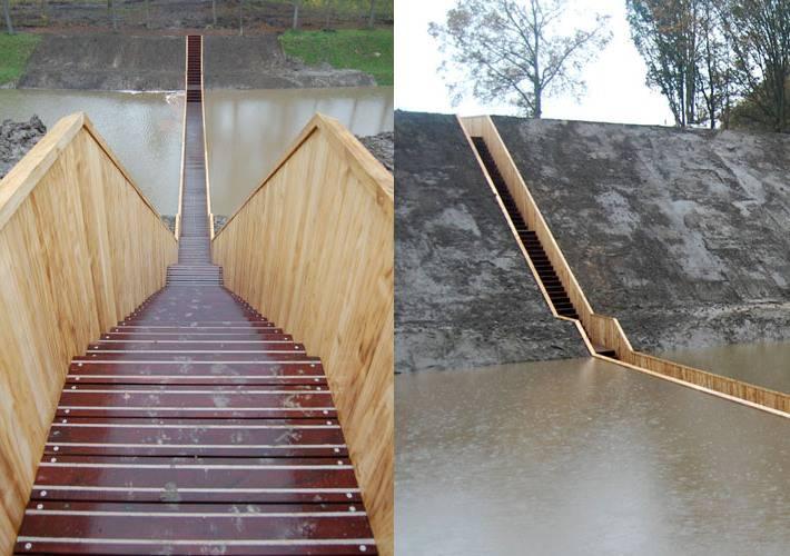 Невидимый мост в Нидерландах