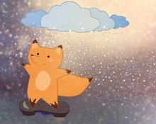 Смотри сюда: снежные облака и летающий скейт