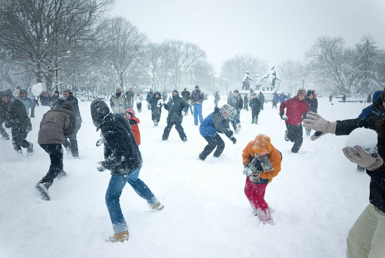 Игра в снежки картинки прикольные, открытка