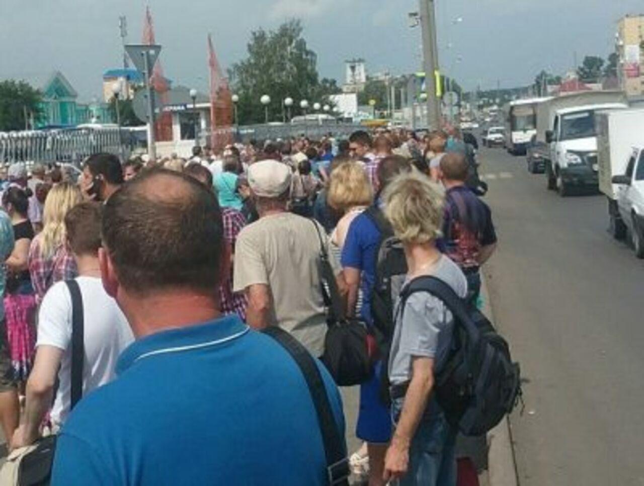 Опубликованы кадры эвакуации людей из автовокзала в Кемерове