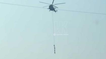 Кемеровчане заметили в небе летающих силовиков