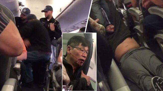 Картинки по запросу United Airlines достигла соглашения с пассажиром, силой снятым с рейса