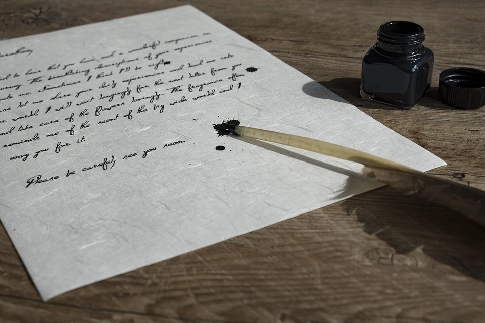 Картинки с пером для письма